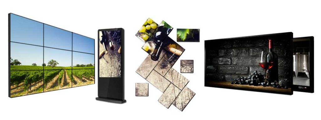 Il Digital Signage di Wine System prevede diversi formati disponibili per lo shop