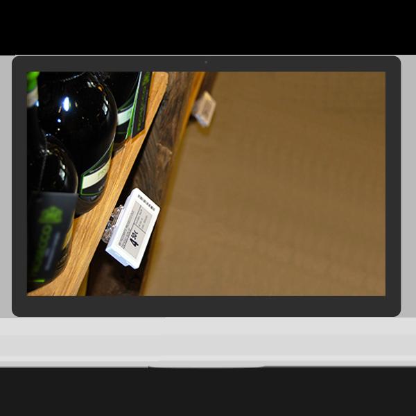 Etichette Elettroniche a scaffale in un Wine Shop